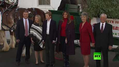 وصول شجرة الميلاد إلى البيت الأبيض