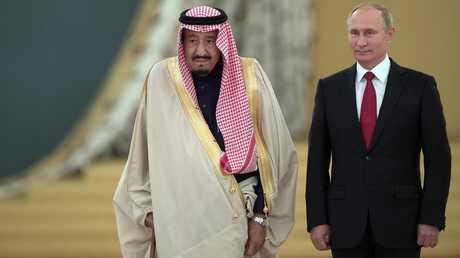 الرئيس الروسي فلاديمير بوتين والعاهل السعودي الملك سلمان بن عبد العزيز آل سعود