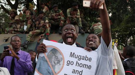 مظاهرة في زيمبابوي