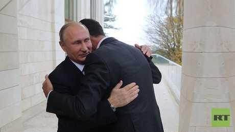 بوتين يستقبل الأسد في سوتشي، الاثنين 20 نوفمبر 2017