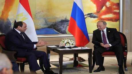 الرئيس الروسي فلاديمير بوتين، ونظيره المصري عبد الفتاح السيسي