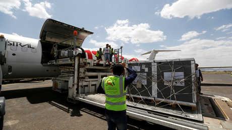 مساعدات إنسانية في مطار صنعاء - أرشيف