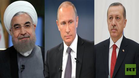 رجب طيب أردوغان، فلاديمير بوتين، حسن روحاني