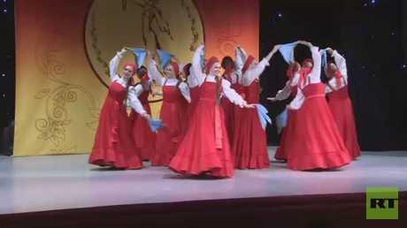 مسابقة لإحياء الرقص الشعبي الروسي بموسكو