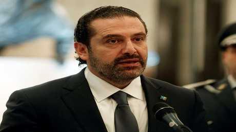 سعد الحريري في قصر الرئاسة في بعبدا، لبنان 22 نوفمبر 2017
