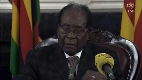 رئيس زيمبابوي المستقيل روبرت موغابي