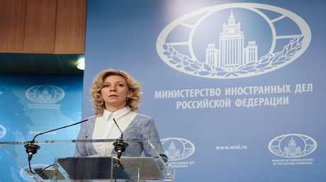 المتحدثة باسم وزارة الخارجية الروسية، ماريا زاخاروفا