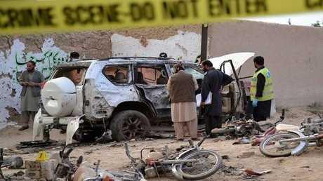 صورة من الارشيف لتفجير سيارة بباكستان