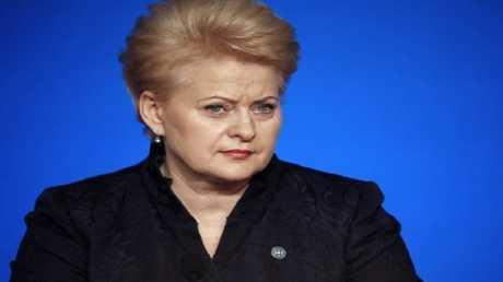 رئيسة ليتوانيا داليا غريبوسكيتيه
