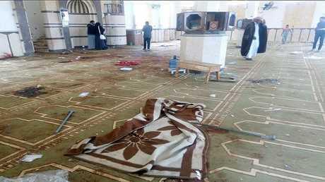 هجوم مسجد الروضة بمنطقة بئر العبد بشمال سيناء