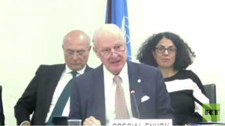 دي ميستورا: يجب أن تجري مفاوضات جنيف دون شروط مسبقة