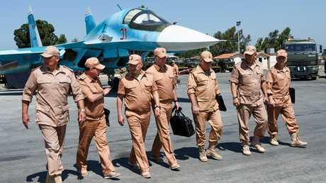 وزير الدفاع الروسي سيرغي شويغو يزور قاعدة حميميم في سوريا - صورة أرشيفية