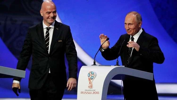 """مونديال 2018: بوتين يعد بـ """"حفل رياضي كبير"""""""