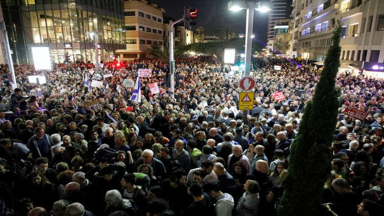 مظاهرات في إسرائيل ضد نتنياهو احتجاجا على الفساد الحكومي