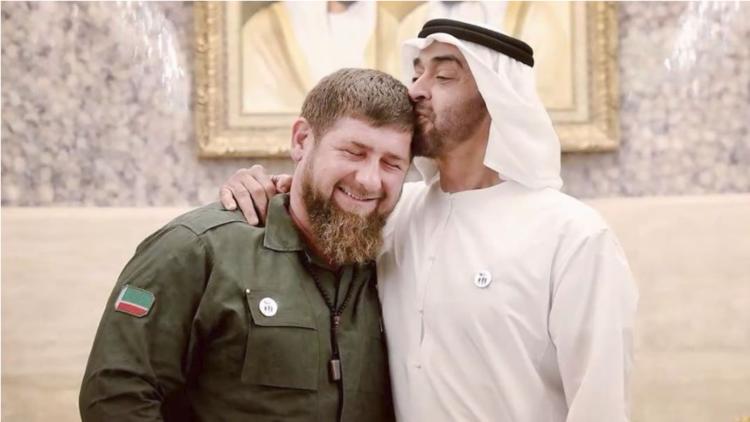 قاديروف ينشر فيديو يظهر متانة صداقته مع ولي عهد أبو ظبي