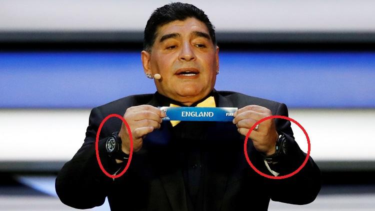ما سر ارتداء مارادونا لساعتين في قرعة المونديال؟