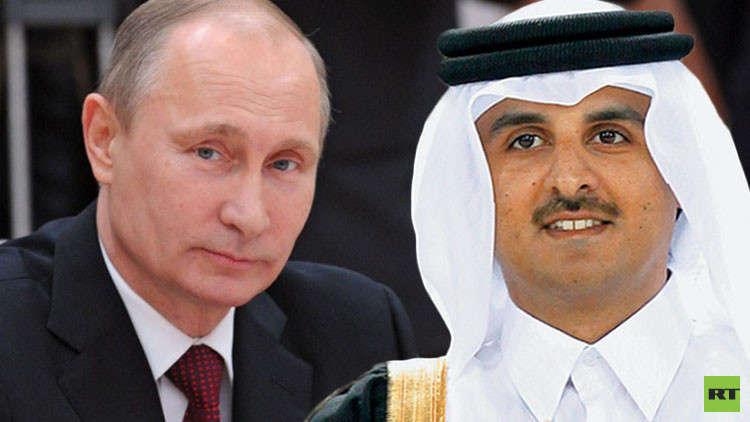 أمير قطر يبعث رسالة لبوتين