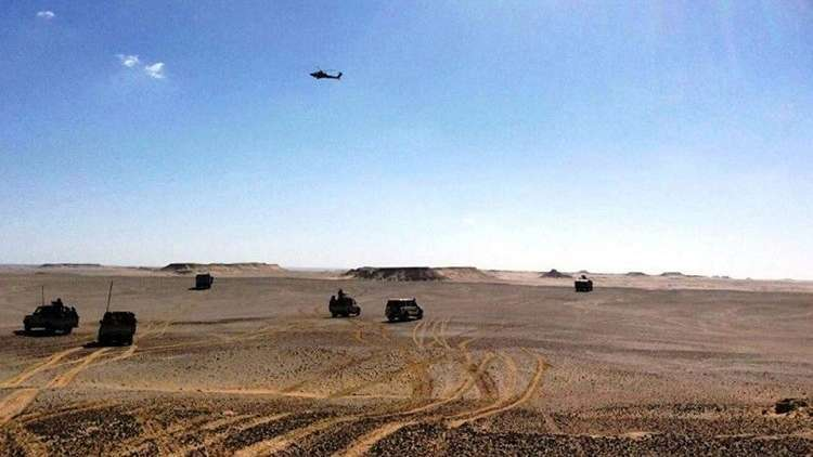 الجيش المصري يدمر عربة إرهابيين قبل تنفيذهم هجوما في سيناء