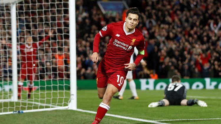 كوتينيو يقود ليفربول للفوز على سبارتاك وبلوغ ثمن نهائي أبطال أوروبا