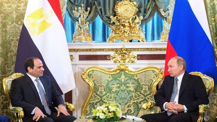 بوتين يزور مصر 11 ديسمبر لبحث الأمن في المنطقة مع السيسي