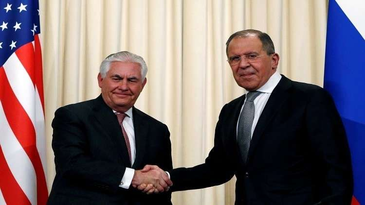 وزير الخارجية الروسي، سيرغي لافروف ونظيره الأمريكي، ريكس تيلرسون