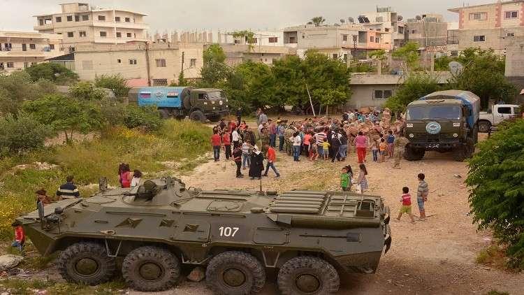 إيصال مساعدات إنسانية روسية إلى حلب ودمشق