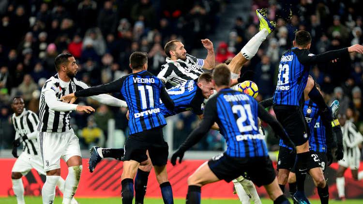 قمة الدوري الإيطالي بين يوفنتوس وإنتر ميلان تنتهي بالتعادل