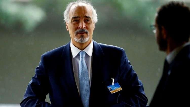 مبعوث سوريا للأمم المتحدة رئيس وفد التفاوض السوري بشار الجعفري