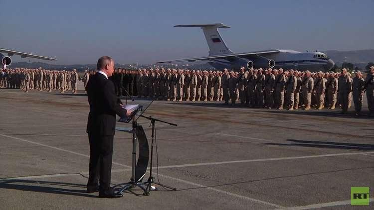 بوتين يحدد المراكز العسكرية التي ستحتفظ بها روسيا في سوريا