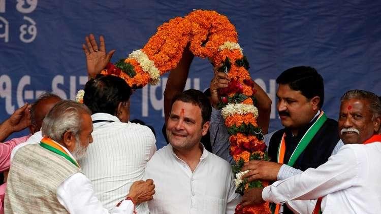 حفيد غاندي يتوّج رئيسا لحزب المؤتمر الهندي المعارض