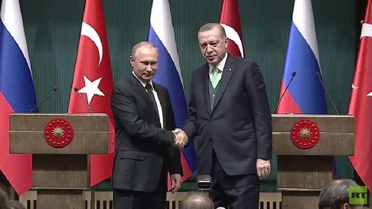بوتين وأردوغان يبحثان سوريا والقدس و