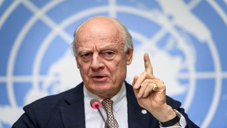 مصدر في المعارضة السورية ينفي صحة ما نسب لـ دي ميستورا بشأن العملية السياسية