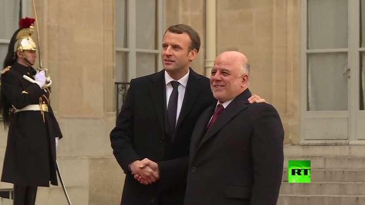 ماكرون يستقبل العبادي في باريس