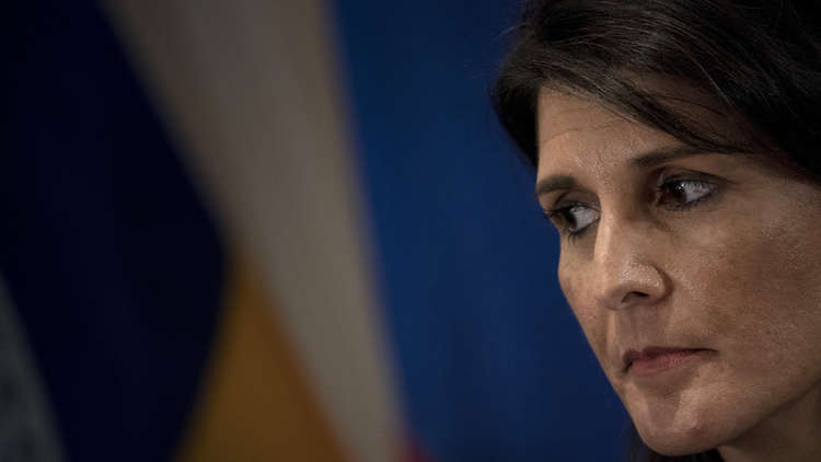 هايلي تعتزم تقديم أدلة تؤكد أن إيران زودت