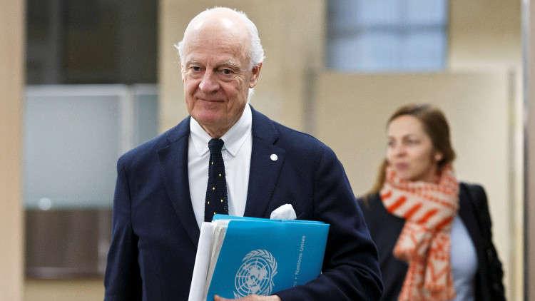 دي ميستورا: سوريا معرضة للتفكك في حال لم يتم التوصل للسلام