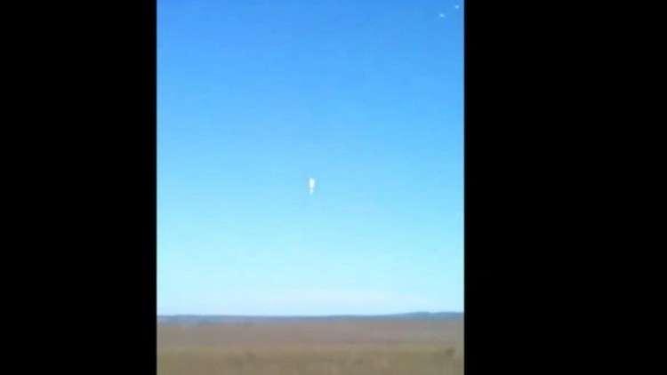لحظة مقتل جندي روسي لم تفتح مظلته بعد القفز من طائرة!