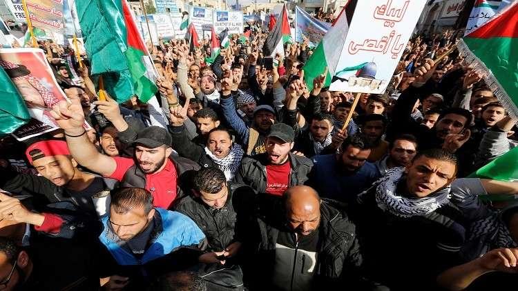 آلاف المتظاهرين في الأردن نصرة للقدس