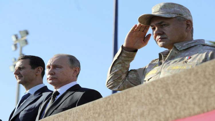 شكر خاص للعسكريين الروس الذين أمنوا زيارة بوتين إلى حميميم