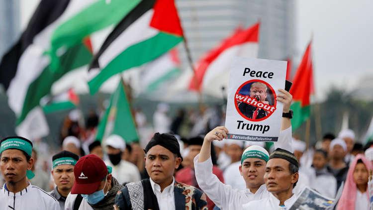 الآلاف يحتجون وسط جاكرتا على قرار ترامب بشأن القدس