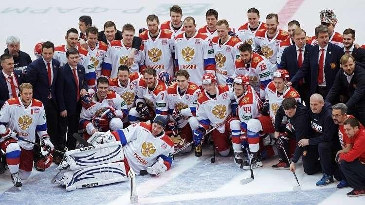 روسيا تتوج بكأس القناة الأولى للهوكي