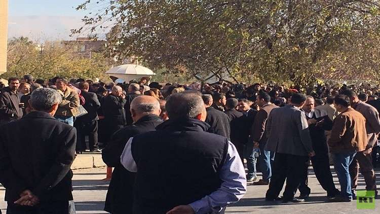 تظاهرات حاشدة في السليمانية احتجاجا على سوء الأوضاع المعيشية