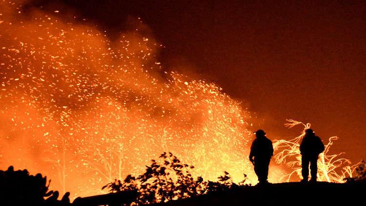 ثاني أكبر حريق في تاريخ كاليفورنيا ما زال خارج السيطرة