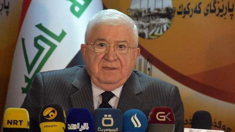 معصوم يدعو المتظاهرين بإقليم كردستان إلى ضبط النفس