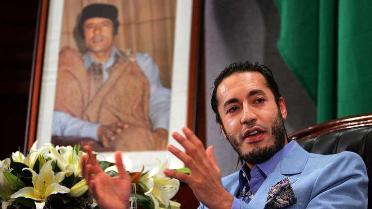 عائلة القذافي تعلن عن اختفاء الساعدي