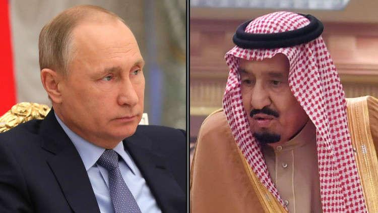 بوتين يهاتف الملك سلمان ويدين إطلاق الحوثيين صاروخا نحو الرياض