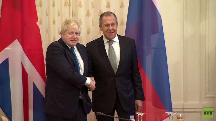 لافروف: مستوى العلاقات الروسية البريطانية منخفض جدا
