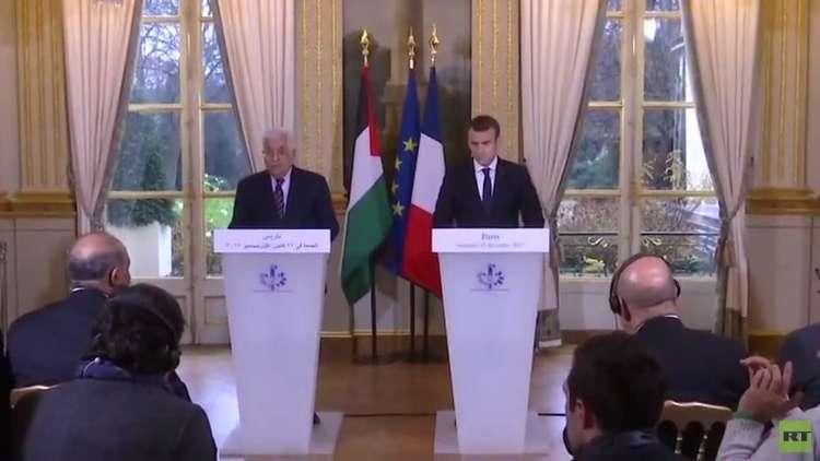 ماكرون وعباس يتفقان على مبدأ حل الدولتين كأساس لتحقيق السلام