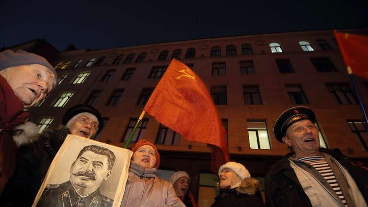 احتفالات بالذكرى المؤوية للثورة البولشفية - صورة أرشيفية