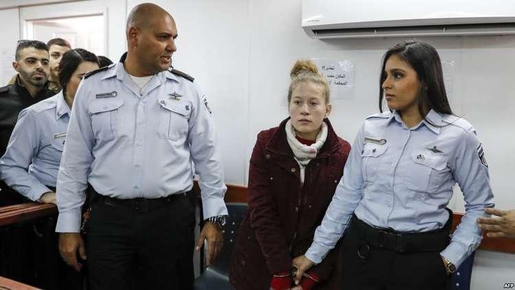 القضاء الإسرائيلي يمدد اعتقال عهد التميمي لـ5 أيام