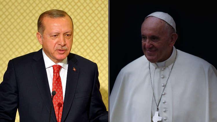 أردوغان يناقش مع البابا مسألة القدس